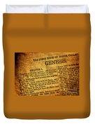Genesis Duvet Cover