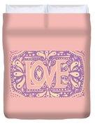 Gentel Love  Duvet Cover
