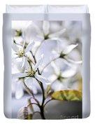 Gentle White Spring Flowers Duvet Cover