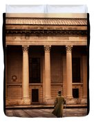 Gentleman In 18th Century Clothing Walking Duvet Cover
