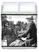Gentleman Rider Duvet Cover