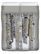 Gently Falling Forest Snow Duvet Cover