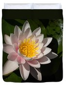 Gently Pink Waterlily In The Hot Mediterranean Sun Duvet Cover