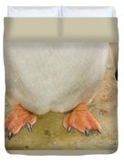 Gentoo Penguin Feet Duvet Cover