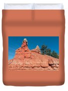 Geological Forces At Red Canyon Duvet Cover