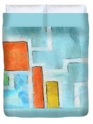 Geometric Abstract Duvet Cover by Pixel Chimp