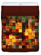 Geometric Abstract Quilted Meadow Duvet Cover