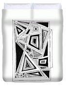 Geometric Doodle 2 Duvet Cover by Sarah Loft
