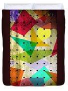 Geometric In Colors  Duvet Cover by Mark Ashkenazi