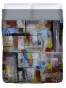 Geometric Modern Painting Original On Canvas Duvet Cover