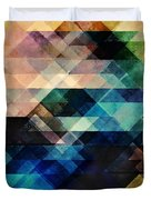 Geometric Textural Colorations Duvet Cover