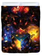 Geometry Amid Chaos Lights Duvet Cover