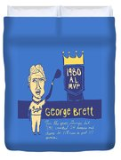 George Brett Kc Royals Duvet Cover