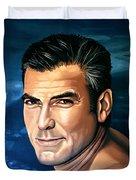 George Clooney 2 Duvet Cover
