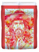 George Harrison With Hat Duvet Cover