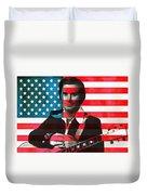 George Jones American Country Duvet Cover