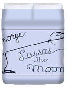 George Lassos The Moon Duvet Cover