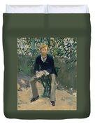 George Moore In The Artist's Garden Duvet Cover