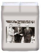 George Sisler Babe Ruth Ty Cobb Duvet Cover