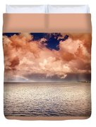 George Town-grand Cayman Rainbow After The Storm Duvet Cover