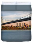 George Washington Bridge In Autumn Duvet Cover