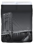 George Washington Bridge Twilight II Duvet Cover