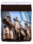 George Washington-robert Morris-hyam Salomon Memorial Statue Duvet Cover