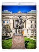 George Washington Statue Indianapolis Indiana Statehouse Duvet Cover