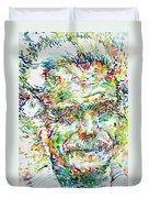 Georges Brassens Portrait Duvet Cover
