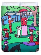 George Seurat- A Cyclops Sunday Afternoon On The Island Of La Grande Jatte Duvet Cover