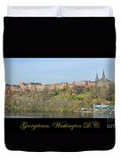 Georgetown Poster Duvet Cover