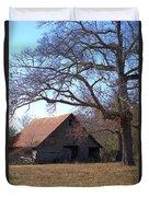 Georgia Barn In Winter Duvet Cover