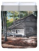 Georgia Cabin In The Woods Duvet Cover