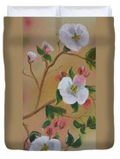 Georgia Flowers - Apple Blossoms- Stretched Duvet Cover