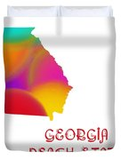 Georgia State Map Collection 2 Duvet Cover