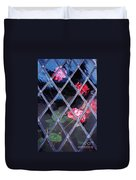 Geraniums Under Glass In Wales Duvet Cover