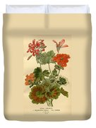 Geraniums Duvet Cover by Philip Ralley