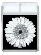 Gerbera Daisy Monochrome Duvet Cover