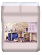 German Dining Hall, Early 20th Century Duvet Cover