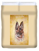German Shepard Portrait Lala Duvet Cover