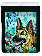 German Shepard Watercolor Duvet Cover