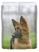 German Shepherd Puppy Duvet Cover