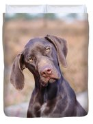 German Short-haired Pointer Puppy Duvet Cover