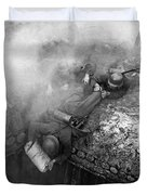 German Soldiers Launch A Suprise Attack On Bunker 17. Duvet Cover
