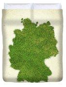 Germany Grass Map Duvet Cover
