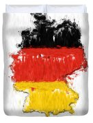 Germany Painted Flag Map Duvet Cover