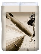 Germanys Two Mighty Airships, The Graf Duvet Cover