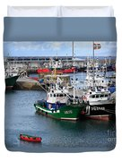 Getaria Fishing Fleet Duvet Cover