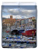 Getaria In Basque Country Spain Duvet Cover