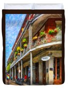 Getting Around The French Quarter - Watercolor Duvet Cover